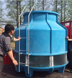 Durable Bottle Type Cooling Tower , 30T Round Cooling Tower With Ladder