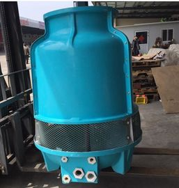 Blue Water Cooling Tower 800T Long Life Span 22KW Motor Rust Resistance