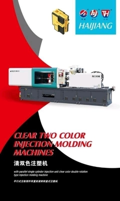 Clear Double Color Plastic Products Making Machine Injection Molding 1 Tons