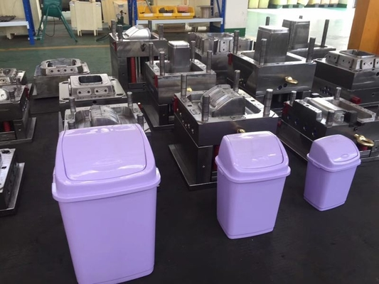 Public Plastic Dustbin Injection Molding Molds With Custom Runner Type